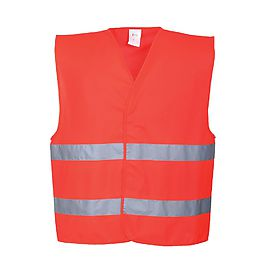 HV tw band vest Red - C474
