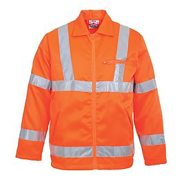 High Visibility Poly-cotton Jacket RIS - RT40