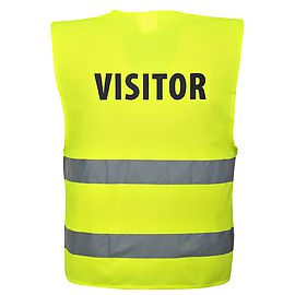 Vest HV VISITOR Yellow - C405