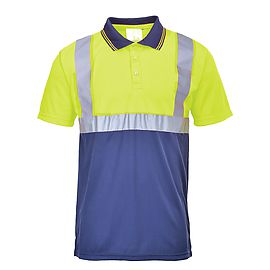 Polo HV Yellow/Navy - S479