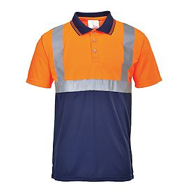 Polo HV Orange/Navy - S479