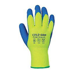 Gants froid Grip Jaune/Bleu - A145