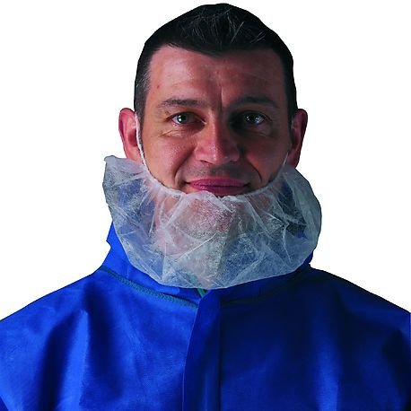 Beard cover White 45540 100pc - TIDY PROFESSIONAL