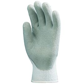 Winter gloves latex coated Grey