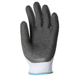Crinkled latex coated glove