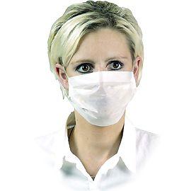 Masque papier 1 pli blanc 45410 100pc