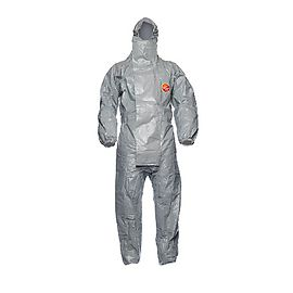Tychem® 6000 F Plus Hooded coverall -TF CHZ5 T GY 00
