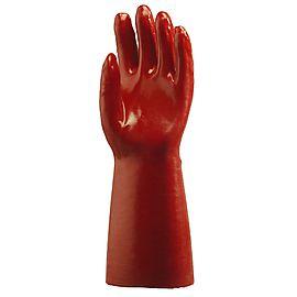 Gants PVC Rouge 40cm 3641