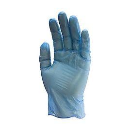 Gants vinyle Bleu poudrés 100pc