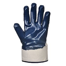 Nitrile safety cuff glove Navy - A301