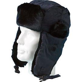 Bonnet d'hiver fourré Siberia Bleu