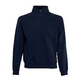 Sweat-shirt P/C zip neck 280gr