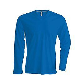 Men's long-sleeved V-neck T-shirt - K358C