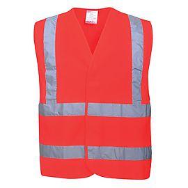 Gilet HV baudrier/ceintures Rouge - C470