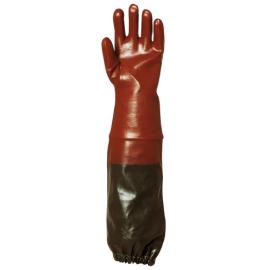 PVC Glove sewer worker (70 cm)