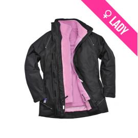 Elgin 3 in 1 Ladies Jacket Black - S571