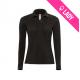 Polo femme 100% coton 180gr ML - Noir (01)