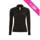 Polo ladies 100% cotton 180gr LS - Noir (01)