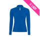 Polo ladies 100% cotton 180gr LS - Bleu roi (05)