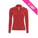 Polo femme 100% coton 180gr ML - Rouge (06)