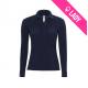 Polo femme 100% coton 180gr ML - Bleu marine (04)