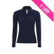 Polo ladies 100% cotton 180gr LS - Bleu marine (04)