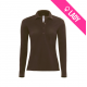 Polo ladies 100% cotton 180gr LS - Brun (11)