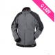 Two-tone fleece jacket Women (260g) - KAZAN - Gris/Noir (05)