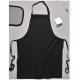 Tablier à bavette polycoton - S841 - Noir (08)