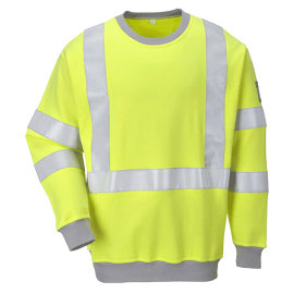 Flame Resistant Anti-Static High Visibility Sweat-shirt - FR72