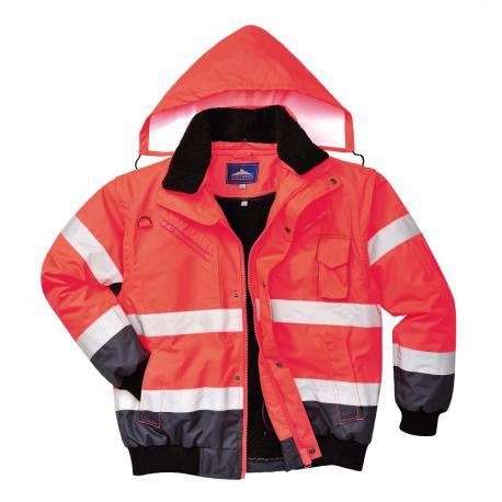 HV bomber jacket Red  C465