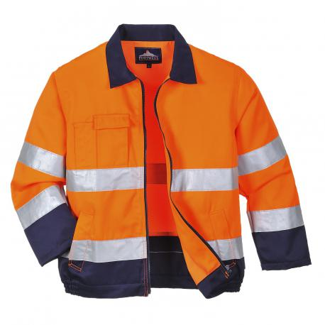 Portwest C470 Hi-Vis Two Tape /& Brace Hi vis Visibility Safety Vest Waistcoat