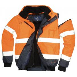 HV bomber jacket Orange/Navy - C465