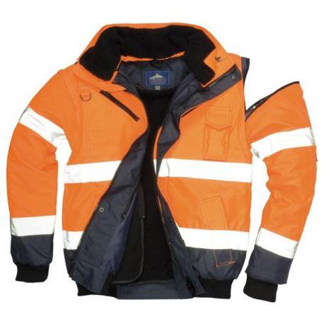 HV bomber jacket Orange/Navy - C465 - PORTWEST