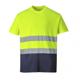 S173 - Two Tone Cotton Comfort T-shirt