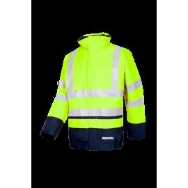 Flame retardant High visibility, anti-static rain bomber jacket - WADDINGTON
