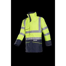 Flame retardant High Visibility, anti-static rain bomber jacket - HEDLAND