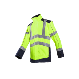 HV softshell jacket with detachable sleeves - DRAYTON