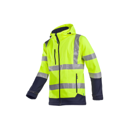 HV laminated softshell jacket with detachable hood - Fuller