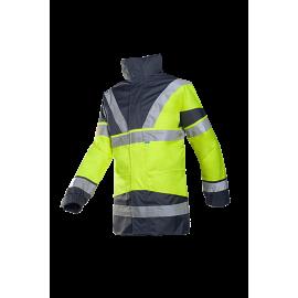 High Visibility rain jacket with detachable bodywarmer - SKOLLFIELD