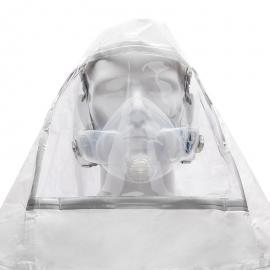 CleanSpace Hotte avec visière (Liquide biorisque/Résistant au sang) - PAF-0097