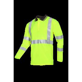 Hi-vis Polo shirt with ARC protection - ELGIN