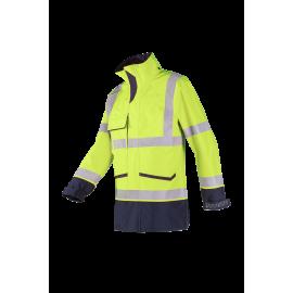 Flame retardant, anti-static High Visibility rain jacket - FALCON