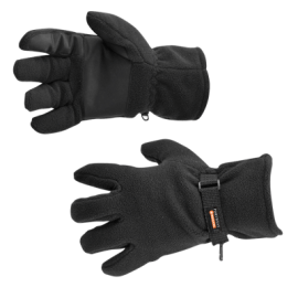 HI Viz Yellow latex work Gloves Fleece Lined  builders gloves Seconds