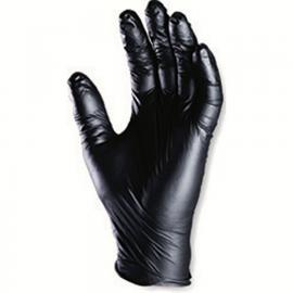 Powder-free NITRILE gloves - Black (100p)