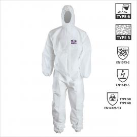 Disposable coverall Chemdefend C250 category III Type 5 & 6 EN 14126
