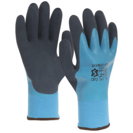 Wintergloves, polyester liner with double latex coating - 7075LFW