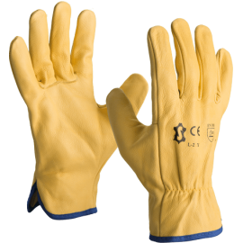Winter driver gloves in cowhide leather  - L-2YF