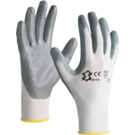 Nylon gloves with grey nitrile coating - 5071PG