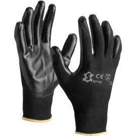 Black nylon gloves with black nitrile coated - 5071NB
